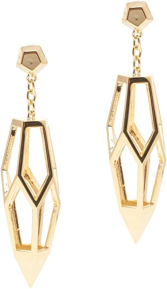 Eddie Borgo Hedron Cage Spike Earrings - Lyst