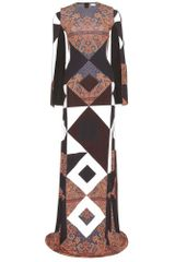 Givenchy Print Maxi Dress - Lyst