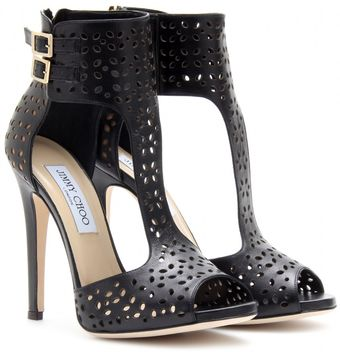 Jimmy Choo Tahi Perforated Leather Sandals - Lyst