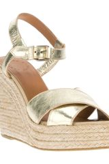 Marc By Marc Jacobs Metallic Wedge Sandal - Lyst