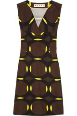 Marni Circle Patterned Cotton Blend Dress - Lyst