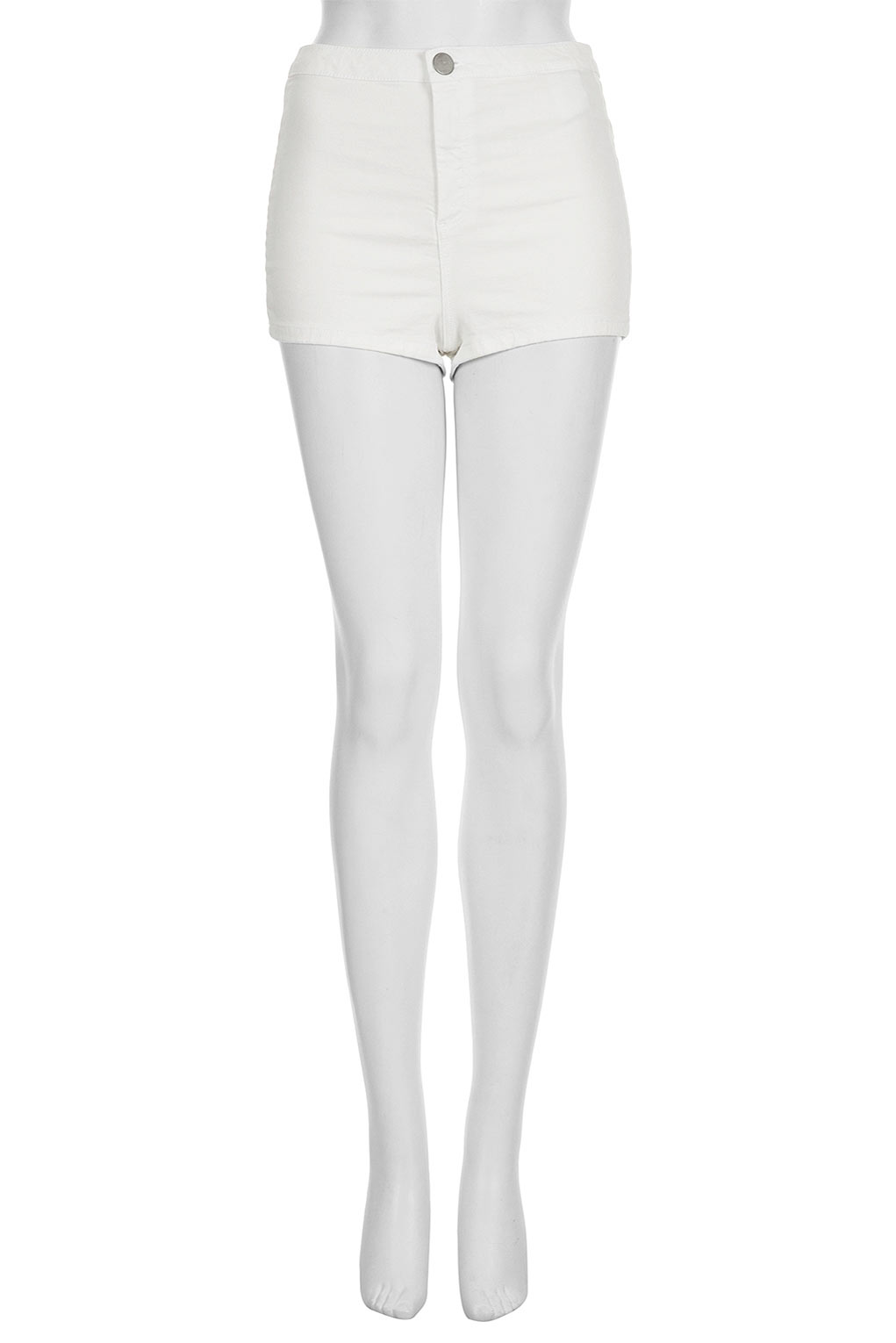 topshop 50s high waist hotpants in white lyst. Black Bedroom Furniture Sets. Home Design Ideas