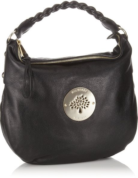 Mulberry Daria Medium Hobo Shoulder Bag Black 80