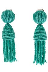 Oscar de la Renta Short Beaded Earring - Lyst