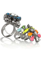 Shourouk Tzarine Silverplated Swarovski Crystal Ring - Lyst