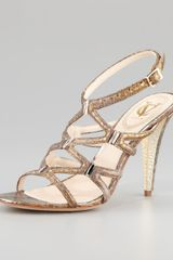 Vc Signature Vogue Metallic Snakeprint Sandal - Lyst