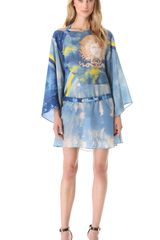 Versace Tie Dye Medusa Dress - Lyst