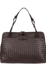 Bottega Veneta Woven Leather Medium Shoulder Bag - Lyst