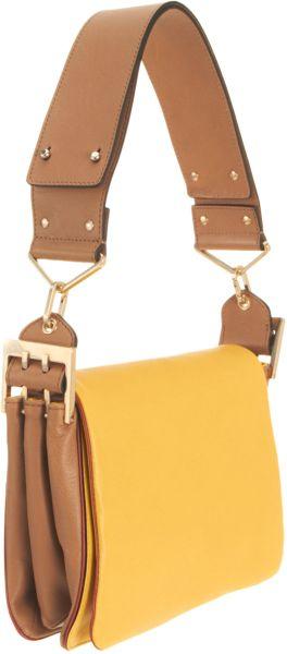 Chlo 233 Colorblock Jade Medium Shoulder Bag In Yellow