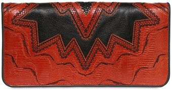 Etro Labyrinth Intarsia Leather Clutch - Lyst