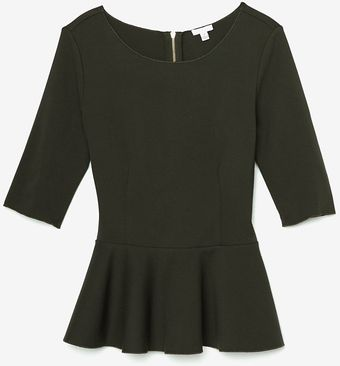 Exclusive For Intermix Ponte Peplum Top - Lyst