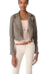 Free People Cutwork Moto Jacket - Lyst