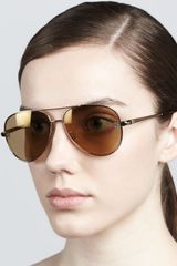 Givenchy Shiny Aviator Sunglasses - Lyst