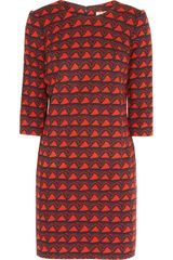 Issa Jacquard Mini Dress - Lyst
