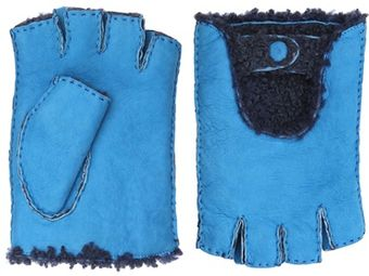 Manuel Vanni Shearling Driving Gloves - Lyst