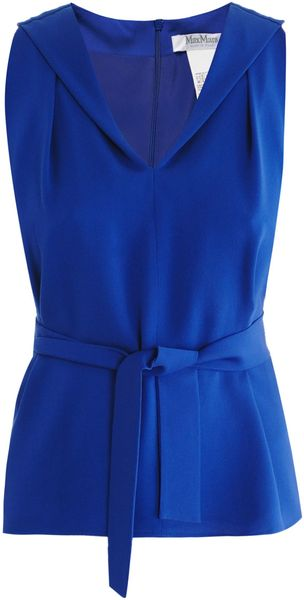 Max Mara Aster Sleeveless Blouse - Lyst
