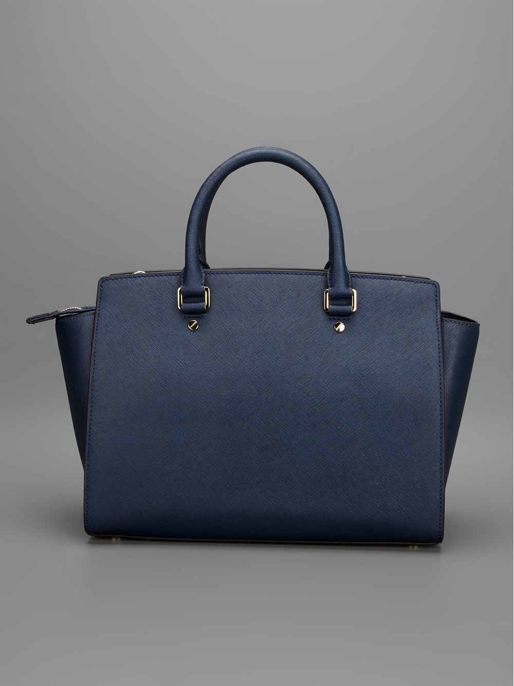 michael michael kors selma tote in blue navy lyst. Black Bedroom Furniture Sets. Home Design Ideas