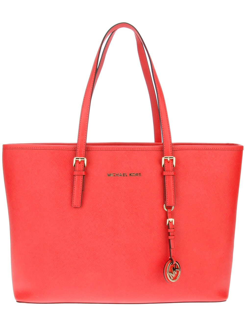 michael michael kors shopper tote in red lyst