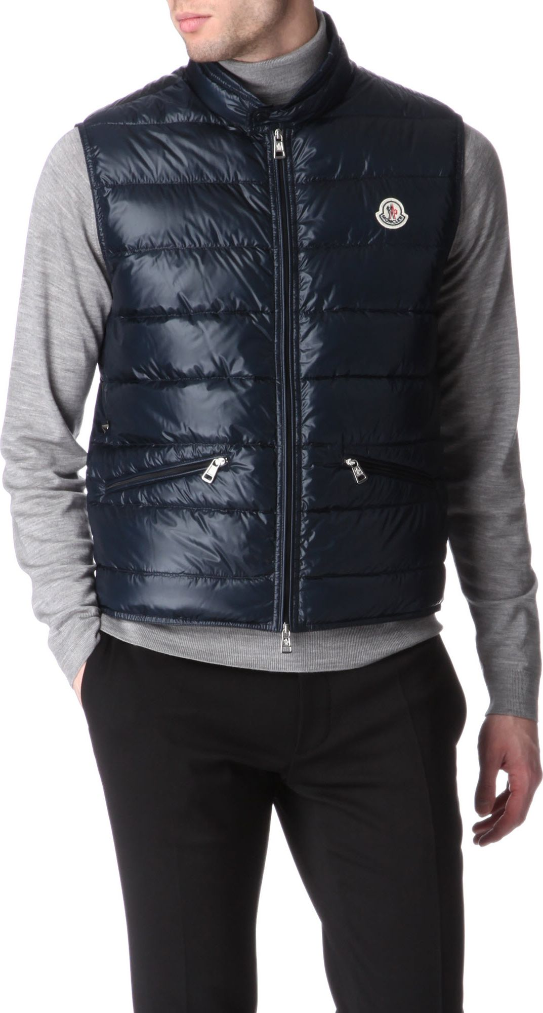 Moncler Men's Gui Gilet / Bodywarmer in Navy | Designer Brand NorthWest; Gallery