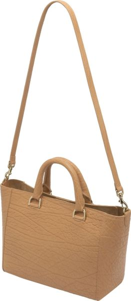 Mulberry Willow Small Shrunken Leather Tote in Brown (biscuit) - Lyst