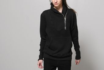 Oak Shawl Collar Zip Pullover Black - Lyst
