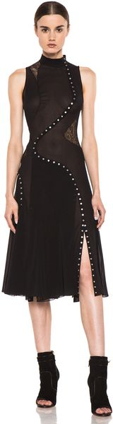 Proenza Schouler Sleeveless Pieced Dress in Black - Lyst