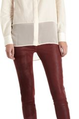 Rag & Bone Skinny Leather Wine Jeans - Lyst