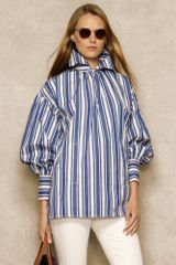 Ralph Lauren Blue Label Striped Cotton Tunic - Lyst