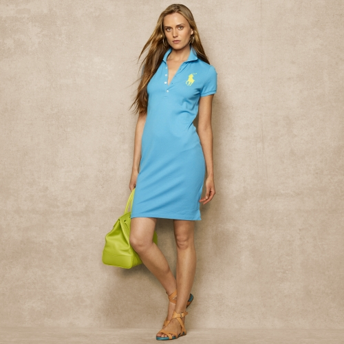 5c34bc77e2108 Ralph lauren blue label Big Pony Stretch Polo Dress in Blue