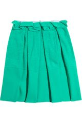 Roksanda Ilincic Pleated Toweling and Crepe Skirt - Lyst