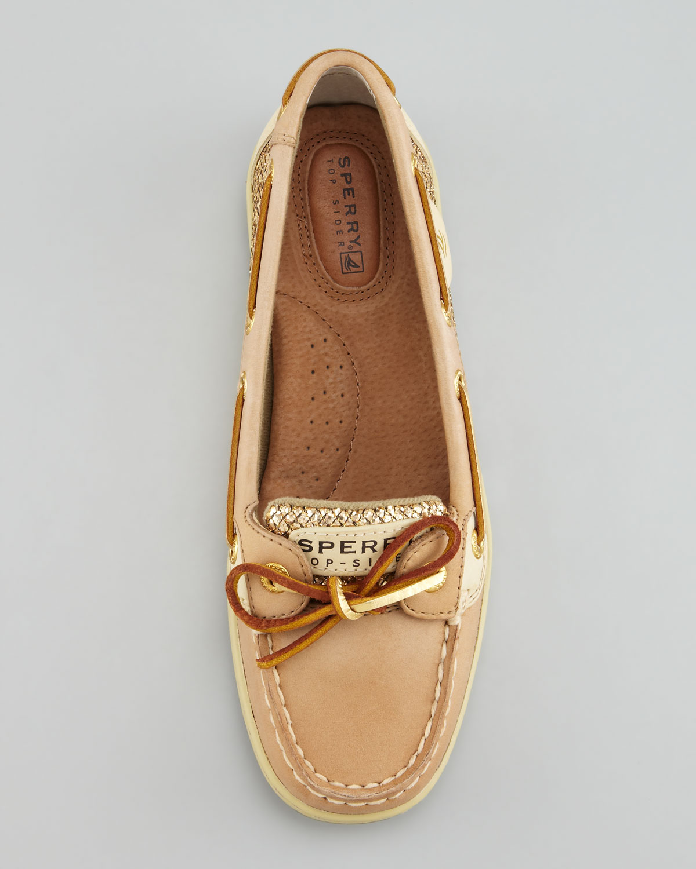 Sperry Women S Angelfish Shoes Linen Gold Glitter
