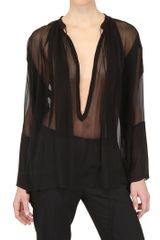 Tom Ford Oversized Silk Georgette Shirt - Lyst