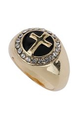 Topshop Cross Sovereign Ring - Lyst
