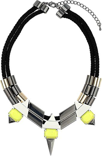 Topshop Cord and Spike Tube Collar - Lyst