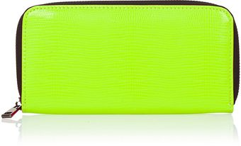 Topshop Neon Snake Zip Around Purse - Lyst