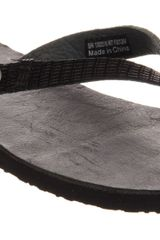 Ugg Ally Flip Flop Black Leather - Lyst