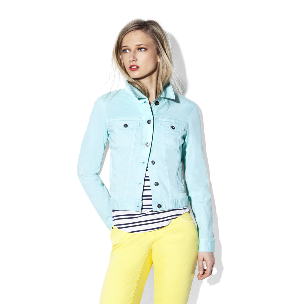 Vince camuto Colored Jean Jacket in Blue | Lyst