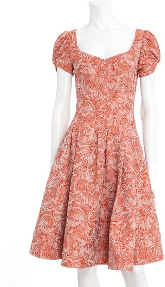Zac Posen Fit Flare Floral Dress - Lyst