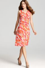 Anne Klein Color Block Print Dress - Lyst