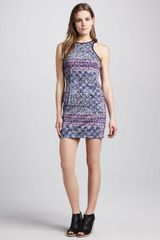Charles Henry Printed Fitted Tank Dress - Lyst