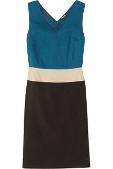 DKNY Color Block Ramieblend Dress - Lyst