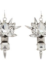 Fallon Crystal Roswell Cluster Earrings - Lyst