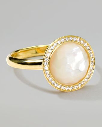 Ippolita 18k Gold Rock Candy Mini Lollipop Diamond Motherofpearl Ring - Lyst