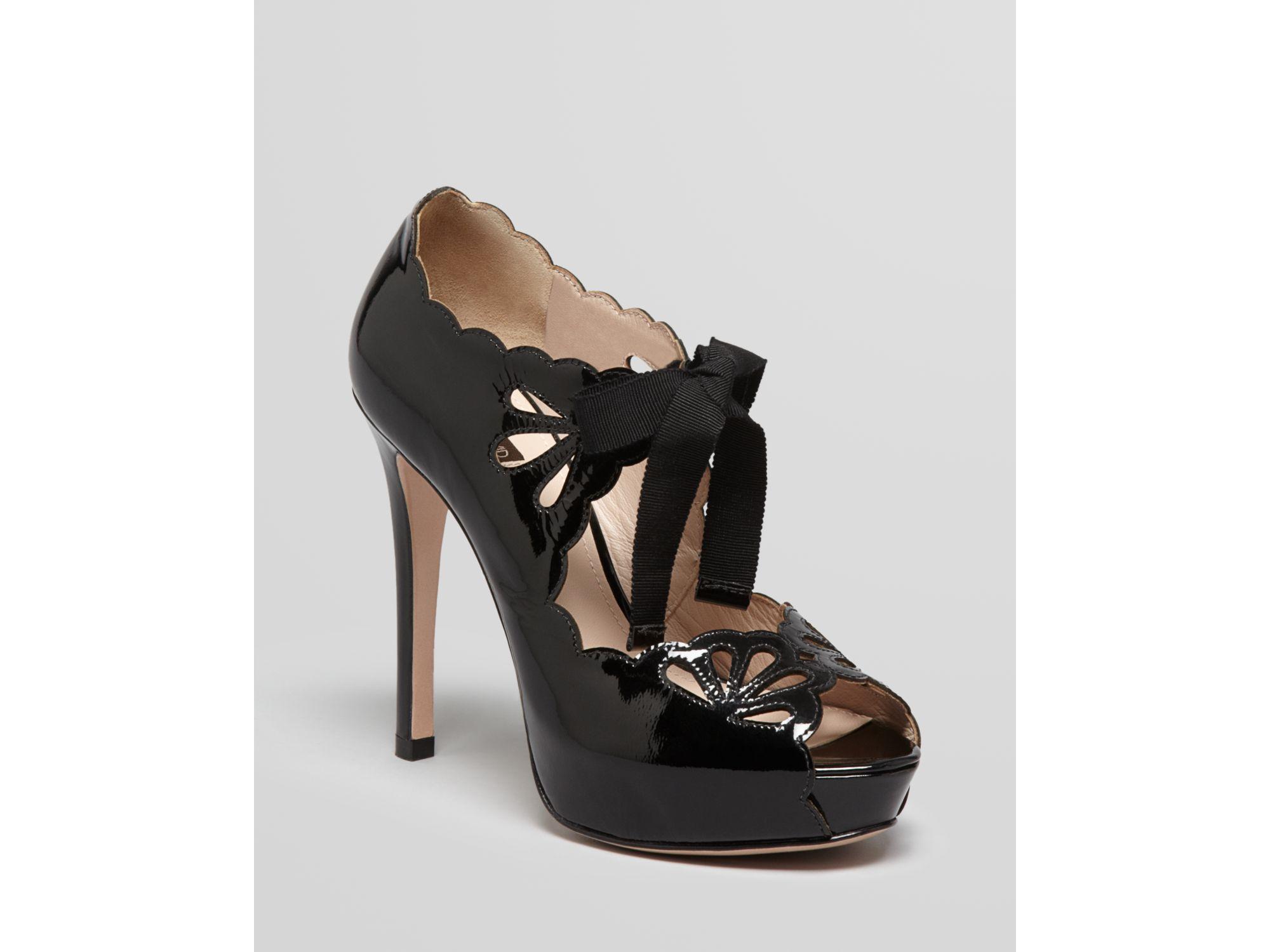 76e4373f0a3 Lyst - Joan   David Peep Toe Platform Pumps Cicilee High Heel in Black