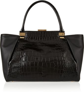 Lanvin Croceffect and Texturedleather Shopper - Lyst