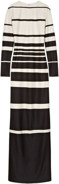 Marc Jacobs Striped Silk Jersey Maxi Dress - Lyst