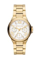 Michael Kors Mini Golden Stainless Steel Camille Chronograph Glitz Watch - Lyst