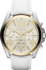 Michael Kors Stainless Steel and Leather Chronograph Watch - Lyst