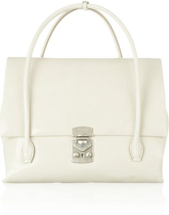 Miu Miu Polished Leather Tote - Lyst