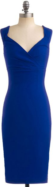 Modcloth Lady Love Song Dress in Sapphire in Blue (sapphire)